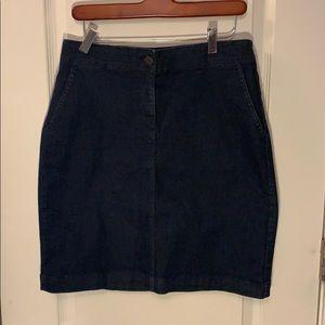 Denim skirt women's size 6 Talbots